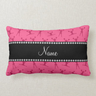 Personalized name pink cheerleader pattern lumbar pillow