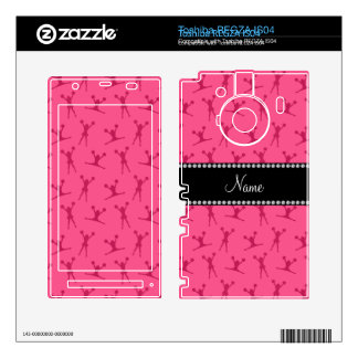 Personalized name pink cheerleader pattern toshiba REGZA decal
