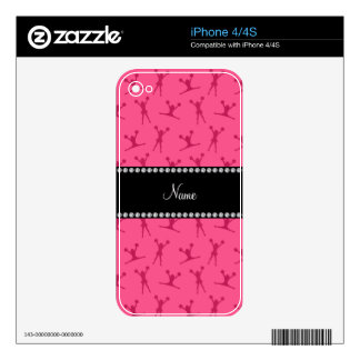 Personalized name pink cheerleader pattern iPhone 4S skins