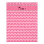Personalized name pink chevrons custom letterhead