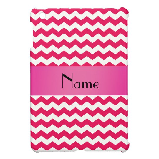 Personalized name pink chevrons iPad mini cover