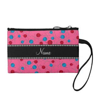 Personalized name pink crochet pattern change purses