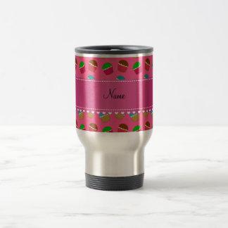 Personalized name pink cupcake pattern coffee mugs