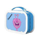 Personalized Name Pink Cute Monster Kids Lunchbox