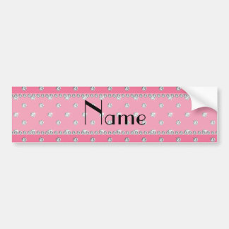 Personalized name pink diamonds bumper sticker