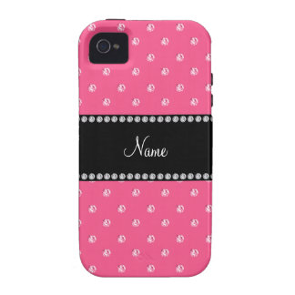 Personalized name Pink diamonds iPhone 4/4S Case