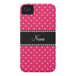 Personalized name pink diamonds iPhone 4 case
