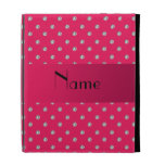 Personalized name pink diamonds iPad cases