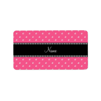 Personalized name Pink diamonds Personalized Address Labels