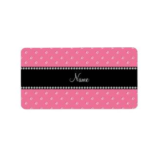 Personalized name Pink diamonds Address Label