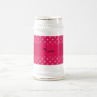 Personalized name pink diamonds mug