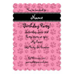 Personalized name pink dog paw prints personalized announcements