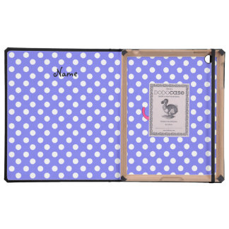 Personalized name pink elephant purple polka dots covers for iPad