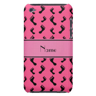 Personalized name pink feet iPod Case-Mate case