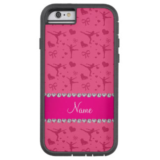Personalized name pink figure skating iPhone 6 case