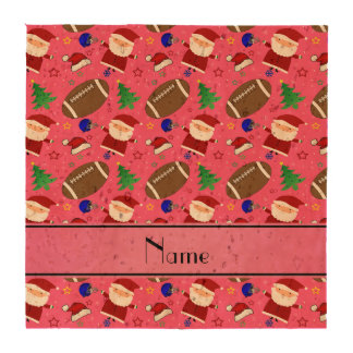 Personalized name pink football christmas coaster