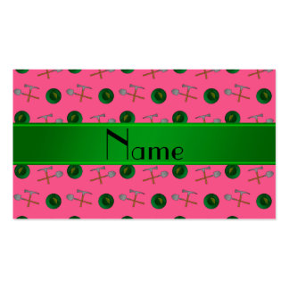 Personalized name pink gold mining Double-Sided standard business cards (Pack of 100)
