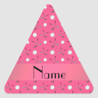 Personalized name pink golf balls sticker