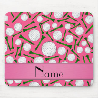 Personalized name pink golf balls tees mousepads