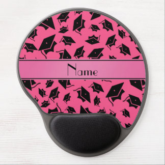 Personalized name pink graduation cap gel mouse pad