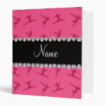 Personalized name pink gymnastics pattern binder