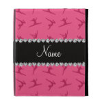 Personalized name pink gymnastics pattern iPad case