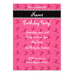 Personalized name pink gymnastics pattern personalized announcement