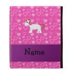 Personalized name pink hair unicorn iPad folio cases