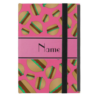 Personalized name pink hamburger pattern cover for iPad mini