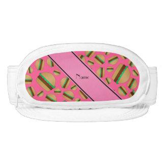 Personalized name pink hamburger pattern visor