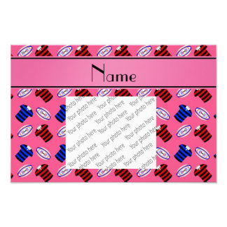Personalized name pink jerseys rugby balls photo