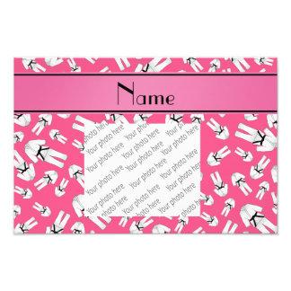 Personalized name pink karate pattern photograph