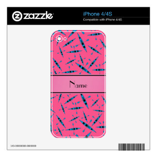Personalized name pink kayaks decals for the iPhone 4S
