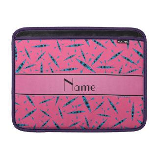 Personalized name pink kayaks MacBook sleeve