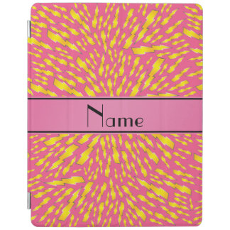 Personalized name pink lightning bolts iPad cover