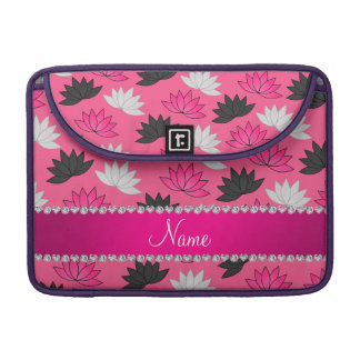 Personalized name pink lotus flowers sleeve for MacBook pro