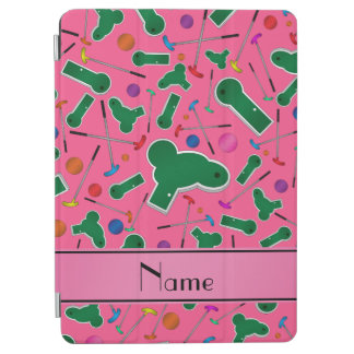 Personalized name pink mini golf iPad air cover