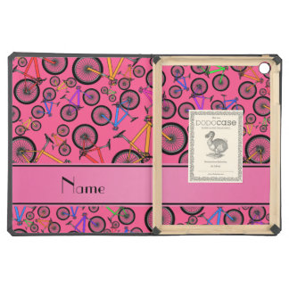 Personalized name pink mountain bikes case for iPad air