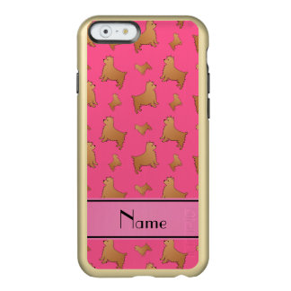 Personalized name pink Norwich Terrier dogs Incipio Feather® Shine iPhone 6 Case