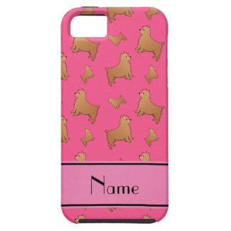 Personalized name pink Norwich Terrier dogs iPhone 5 Case