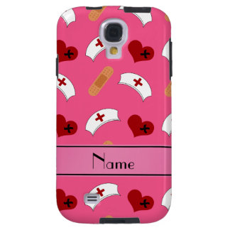 Personalized name pink nurse pattern galaxy s4 case