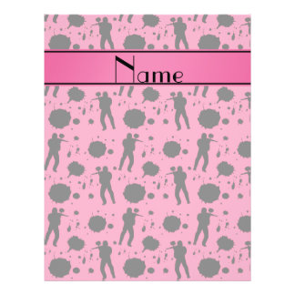 """Personalized name pink paintball pattern 8.5"""" x 11"""" flyer"""