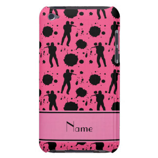 Personalized name pink paintball pattern iPod touch case