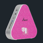 """Personalized name pink panda pink stars bluetooth speaker<br><div class=""""desc"""">Panda gifts for kids. Create your own Personalized with a name, monogram,  or initials or saying cartoon cute pink panda bear with pink stars pattern background.</div>"""