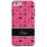 Personalized name pink paris eiffel tower tough iPhone 6 plus case