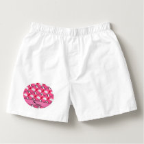 Personalized name pink penguins igloo fish squid boxers