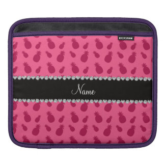 Personalized name pink pineapple pattern sleeves for iPads