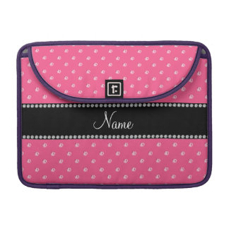 Personalized name pink pink diamonds sleeve for MacBook pro