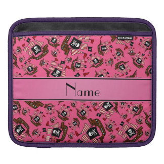 Personalized name pink pirate ships sleeve for iPads