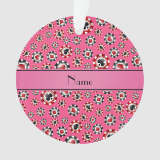 Personalized name pink poker chips